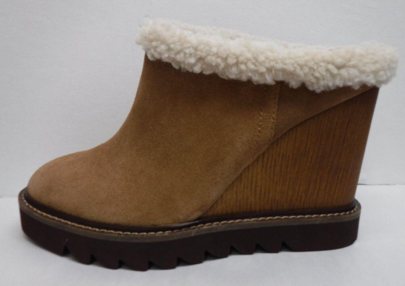 BCBG BCBGeneration Größe 8.5 Leder Ankle Wedge Stiefel NEU Damenschuhe Schuhes