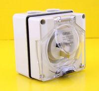 Clipsal 56ai315 1 Phase Appliance Power Inlet Socket 3 Pin 15a 250v Ip66 Caravan