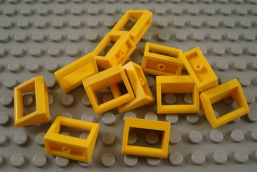 LEGO Lot of 12 Yellow 1x2 Specialty Tiles with Handle