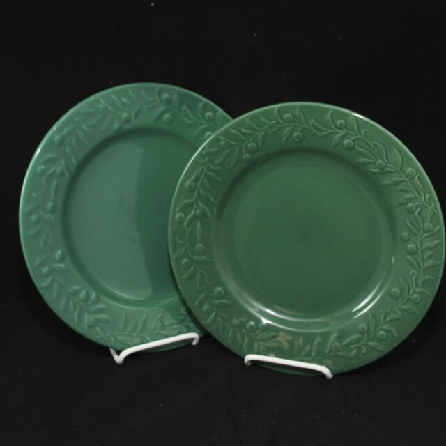 Holiday Home Dinner Plates Green 10-3/4