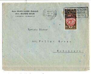 Trieste-AMG-FTT-1950-Accademia-Belle-Arti-per-Catanzaro-12-10-1950