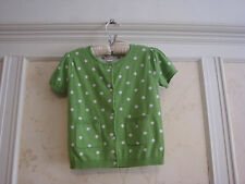NWT Janie And Jack  Vibrant Garden Girls Polka Dot Sweater Top  5 5T Green