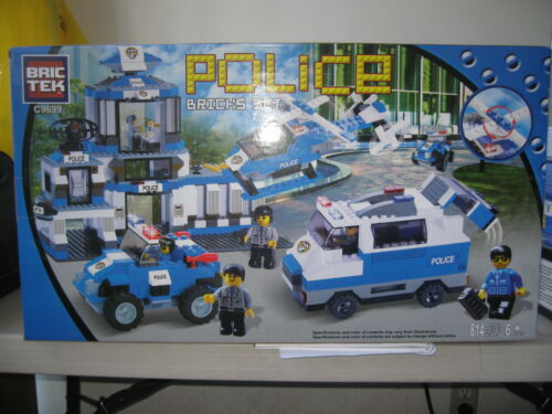 BRICTEK Police Station 814 pcsCompatible with Legos BTC9699