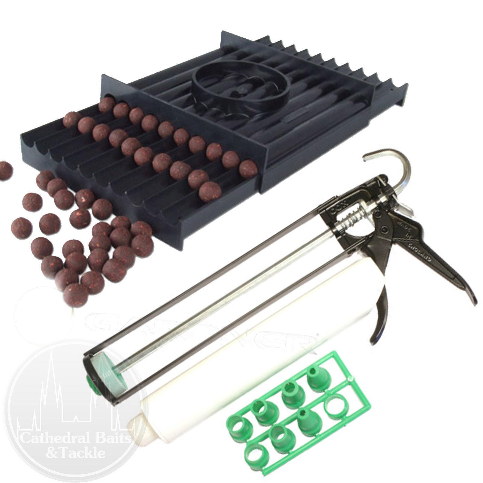 Gardner Tackle rolaball Boilie baitmaker Longbase + STD Salsiccia Gun AFFARE