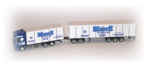 Scania r tl valise-EuroCombi  Mertz suède  piste h0 1 87 HERPA 302173 modèle