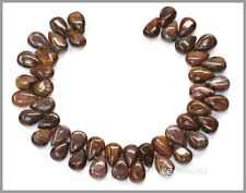 45 Brown Pietersite Flat Pear Beads 6x9mm #77037
