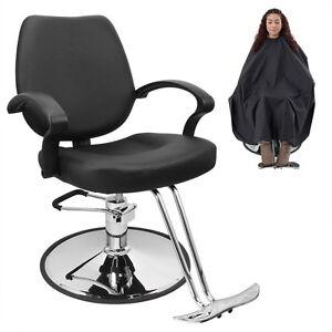 Classic Hydraulic Barber Chair Salon Beauty Spa Hair Styling Black