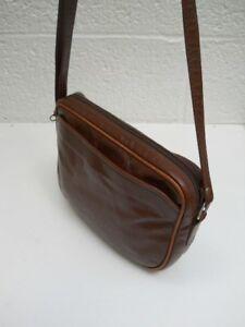 e30589b55603 Image is loading Peruzzi-Italian-Hand-Made-Kidskin-Brown-Shoulder-Bag-