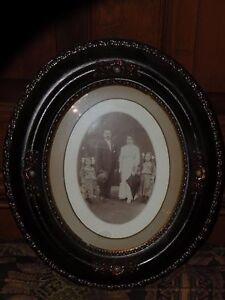 Vintage 1800\u2019s Floral Embroidery w Black Glass Frame