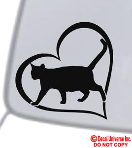 CAT-HEART-Vinyl-Decal-Sticker-Car-Window-Wall-Bumper-Animal-Adopt-Paw-Love-Pet