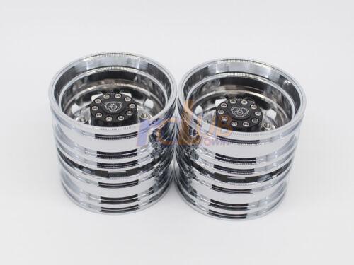 Tamiya 1//14 electroplating wheels CNC Parts For 1//14 tamiay Scania 4X2 truck