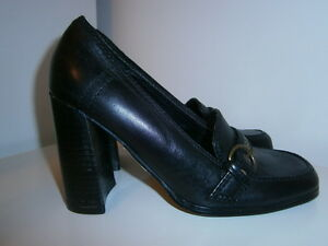 Barratts-RHONDA-womens-black-leather-shoes-size-3