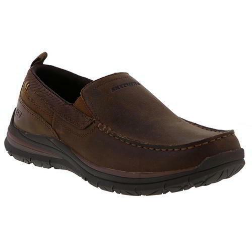 Skechers Superior 2.0 Jeveno Mens braun Leather Slip On schuhe Größe UK 5.5-13