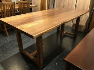 Details About 72 X 36 Solid American Black Walnut Wood Natural Live Edge Slab Dining Table