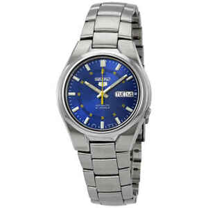 Seiko-5-Automatic-Stainless-Steel-Blue-Dial-37mm-Mens-Watch-SNK615K1-RRP-169