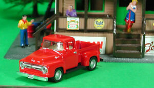 Die-Cast-Vintage-1956-Ford-F100-Pickup-HO-Scale-1-87-by-Model-Power-56-Ford