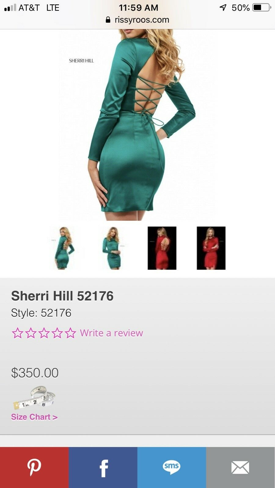 Sherri Hill 52176- Only Worn For One Hour