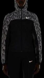 Women-039-s-Nike-Nsw-Shield-Flash-Reflective-Hooded-Running-Jacket-Coat-Size-Large-L