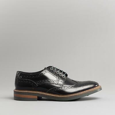 Silver Street Oxford Formal Brogues Lace Up Round Mens Leather Shoes Tan Black