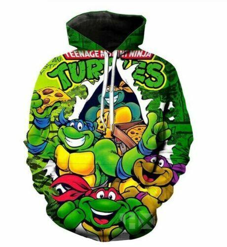 Teenage Mutant Ninja Turtles 3D Print Women//Men/'s Hoodies Sweatshirt Pullover