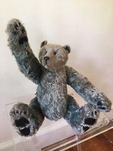 RARE-GREGORY-GYLLENSHIP-Grey-MOHAIR-VINTAGE-Teddy-Bear