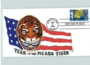 YEAR of the TIGER, 1998 Hand Painted Chinese New Year ...