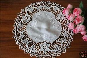 Needlepoint-Lace-N-Hand-Embroidery-Doily-28cm-Round