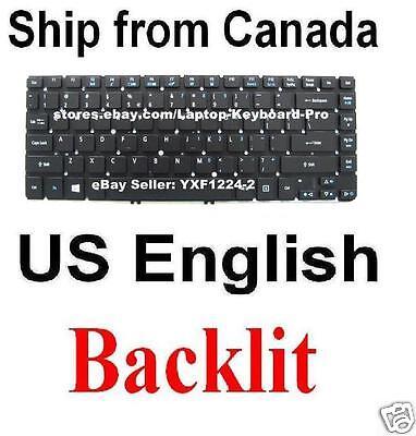 Original New for Acer NSK-R2HBW 1D Laptop Keyboard with Backlit US