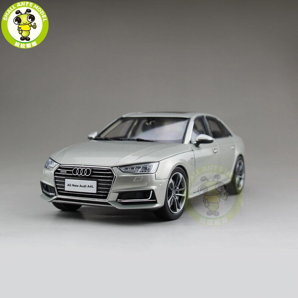 1 18 Audi A4L A4 Diecast  Metal Modèle De Voiture Jouet Garçon Fille Cadeau Collection Argent  cherche agent commercial