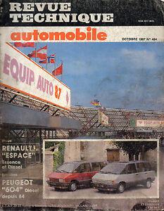 Trempé Rta Revue Technique Automobiles N° 484 Renault Espace 1 Essence Diesel Une Performance SupéRieure