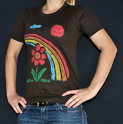 flower power rainbow sun peace hippie love girly shirt Größe 36 S