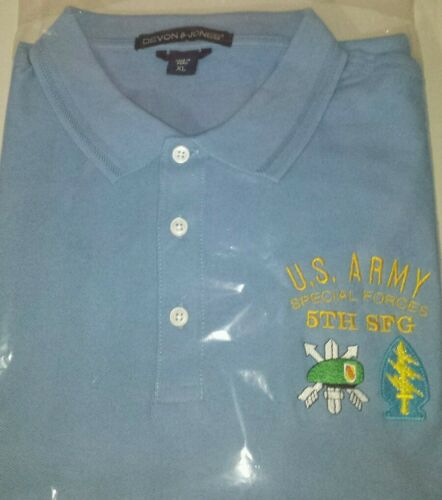 US Army 5th Special Forces Group Vietnam Veteran Embroidered Polo Shirt