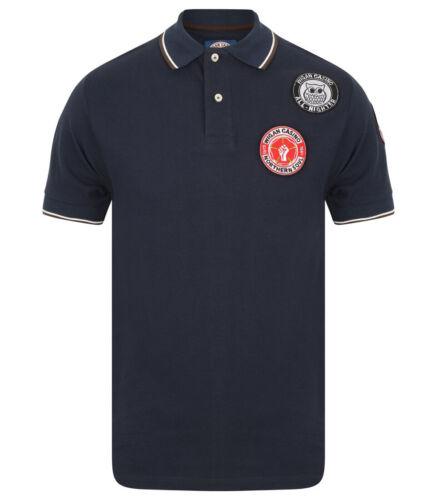 Da Uomo Wigan Casino/' Northern Soul Manica Corta Polo Shirt WC 2063-Navy Blue