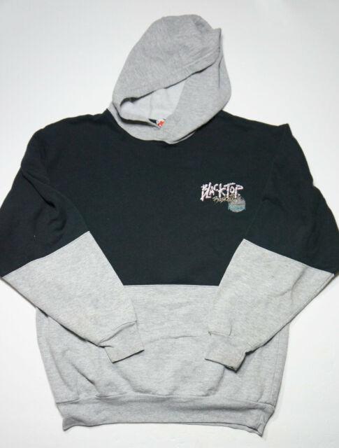 Vintage 90's Reebok Blacktop Basketball Hoodie Sweater Pullover Hooded Black M