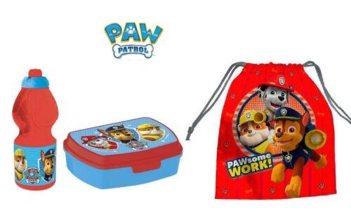 sacchetto scuola Paw Patrol set colazione Box porta panini merenda borraccia