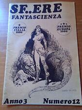 SF..ERE - Anno 3° n. 12 1980 fanzine di fantascienza a cura dell'ANASF - rivista