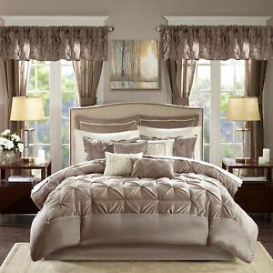 Bedroom Comforter Set 24Pc Bed In A Bag Master Guest Dorm Sheets ...