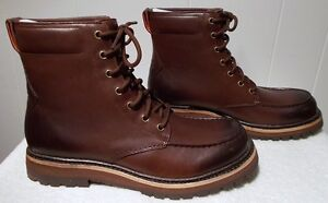 Image is loading NEW-UGG-Leather-Boots-NOXON-Grizzly-Brown-Men-