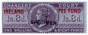 I-B-QV-Revenue-Ireland-Chancery-Fee-Fund-1-8d-specimen