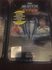 MATCH Attax CHAMPIONS LEAGUE 15/16 SIGILLATO Eden Hazard MEGA TIN 60 carte