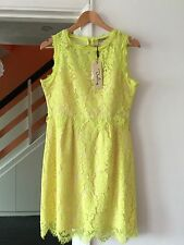 Darling @ ASOS Lois Sunny Lime Lace Shift Pencil Dress Size M 12 Wedding Cruise
