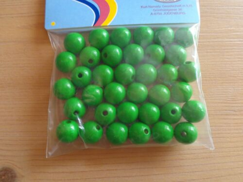 Holzperlen grün Basteln Perle Fädeln 15mm 12mm 10mm 8mm 6mm 4mm Speichelfest