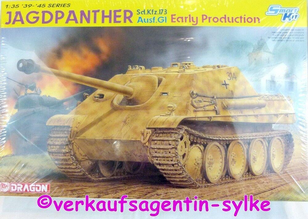 698  Dragon Modelo de Construcción Jagdpanther Sd.Kfz.173 Ausf.gi Early