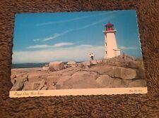 Vintage Postcard Lighthouse Unposted Peggy's Cove Nova Scotia Canada