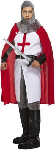 Da Uomo 6pz Deluxe St Georges Day Cavaliere Medievale Costume Vestito STD XL