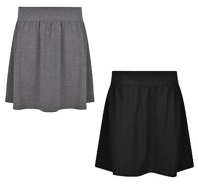 Ex UK Store Girls School Skirt Jersey Stretch Adjustable Waist 3-16 Years