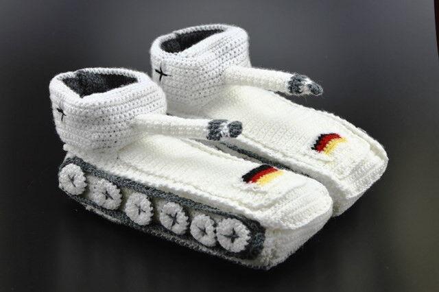 Original Panzer Schuhe Hausschuhe Pantoffeln Handarbeit NEU Schnee Weiß Gr 38-43 NEU Handarbeit f7bac9