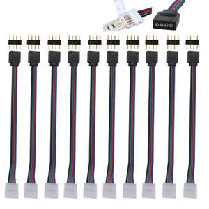 10-piezas-10-mm-4-pin-macho-hembra-cable-conector-de-placa-de-circuito-impreso-para-5050-3528-Tiras