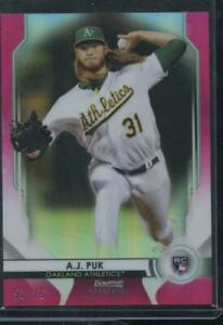 2020 Bowman Sterling Baseball A.J. PUK RC Refractor PINK /75 Athletics A's RO25