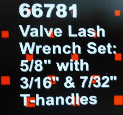 Proform 66781 Valve Lash Adjusting Tool  Set Wrench Nut 5//8 T-Handle 3//16 7//32